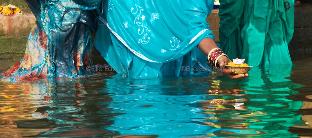 An Offering to Ganga Ma - Varanasi, India