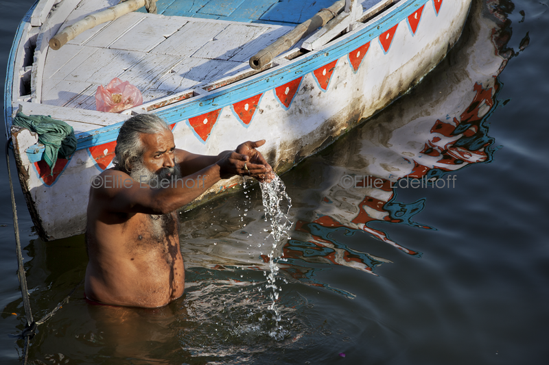 Afternoon Oblations - Varanasi, India
