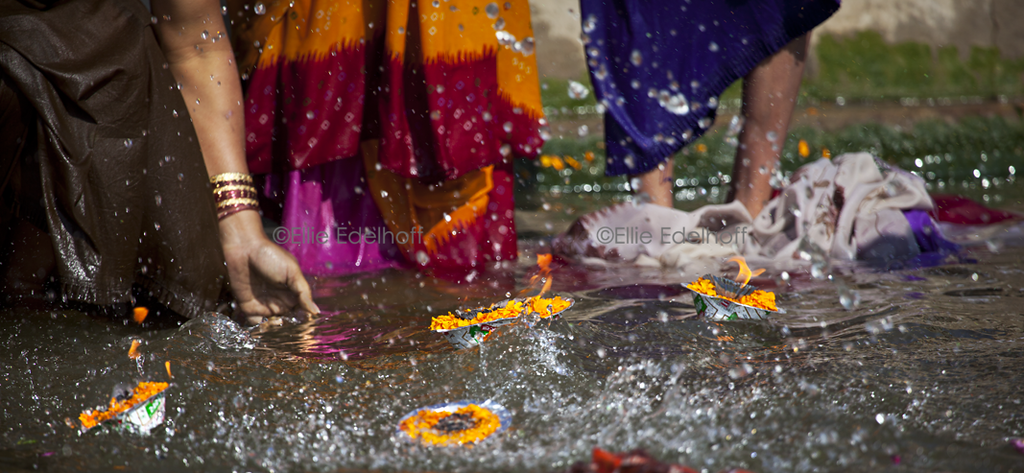 Splashing Blessings - Varanasi, India