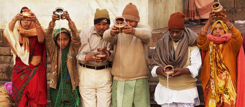 Family Puja - Varanasi, India