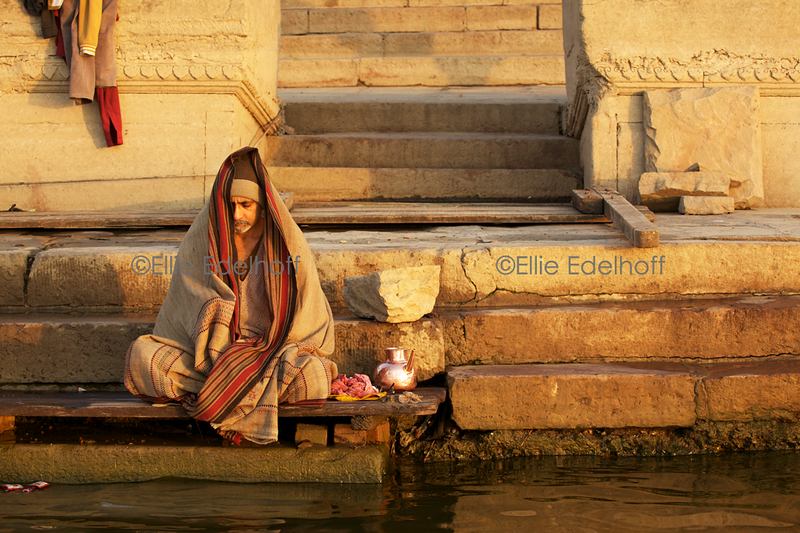 Meditation on the Ghats - Varanasi, India