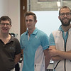 Kinesisten van de ambulante cardiale revalidatie: Dirk, Herwig en Frederik