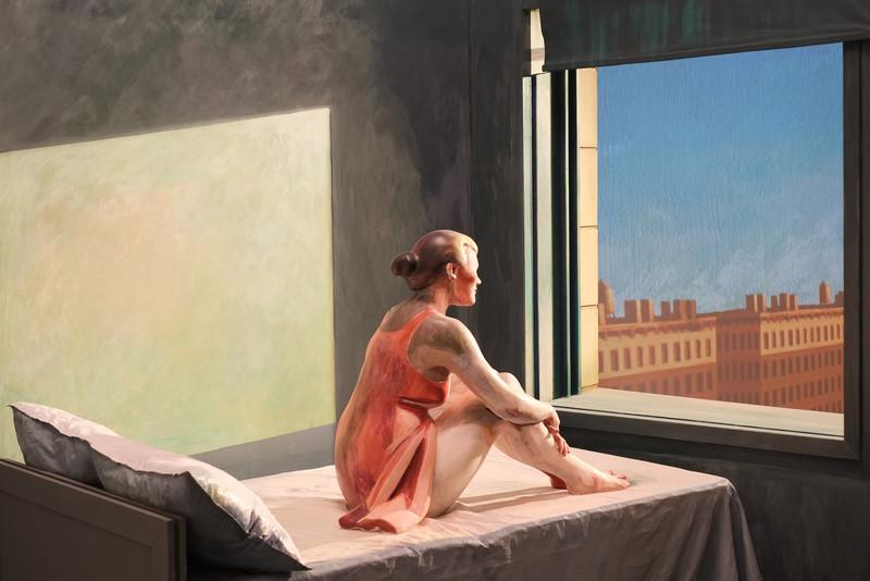 "Variations on Hopper's ""Morning sun"" (III)"