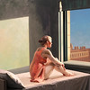 "Variations on Hopper's ""Morning sun"" (III)"