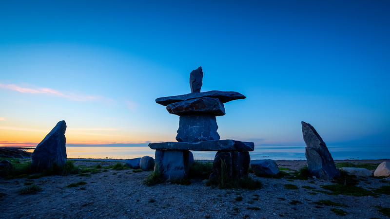 Sunset at the Inuksuk