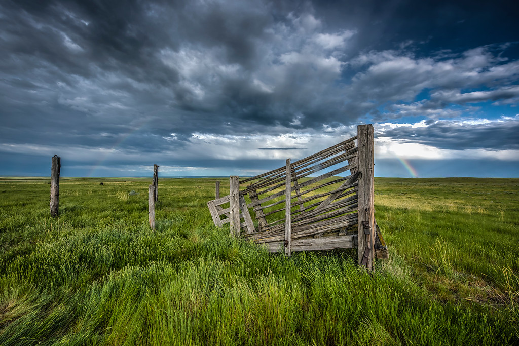 Rainbow on the Prairie