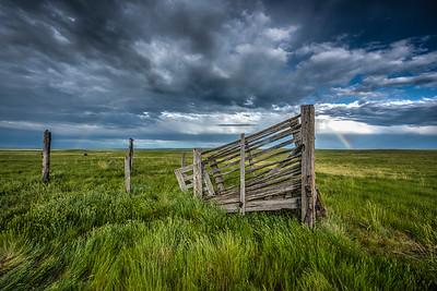 Rainbow on the Prairie