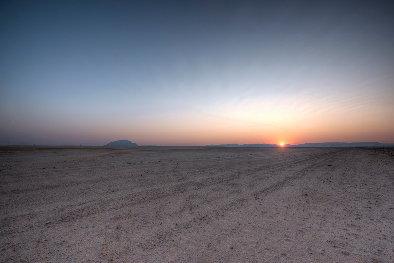 Sunset on the Desert