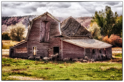 Digitally modified using NIK Color Efex Pro - this is an old sheep barn, near Buffalo Wyoming (Sept 2012)