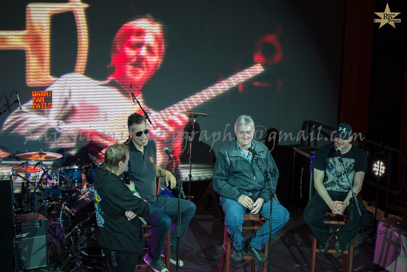 Jon Kirkman interviewing Jimmy Haslip, Allan Holdsworth, and Virgil Donati