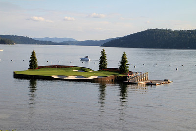 The Couer d'Alene Resort, Couer d'Alene, ID - Hole #14 - World's only floating green
