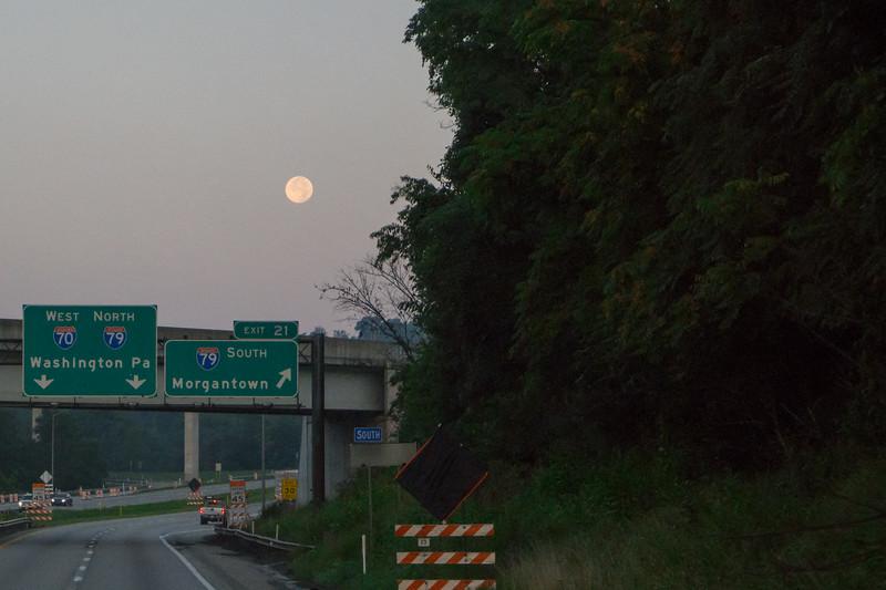 Dawn Moon - Western Pennsylvania