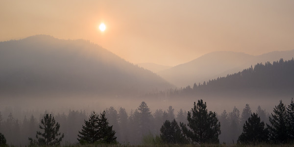 Smoke At Sunrise - Montana