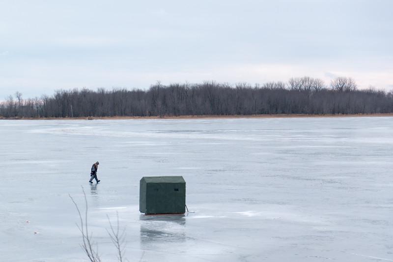 Lake Champlaign Ice Fishing