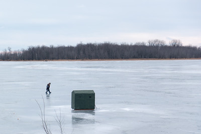 Lake Champlaign Ice Fishing