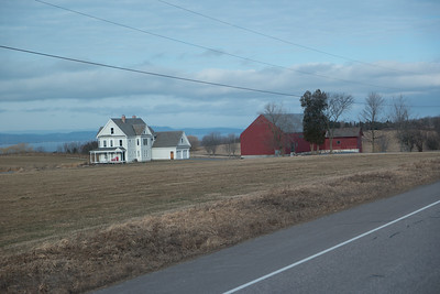 Vermont  House And Barn