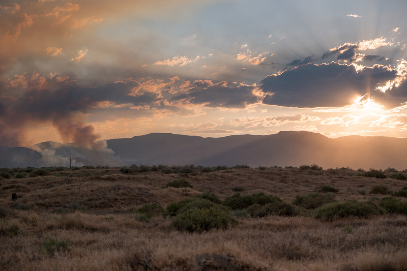 Wildfires From Fernley, NV