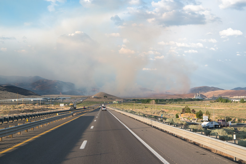 Wildfire Near McCarran, NV
