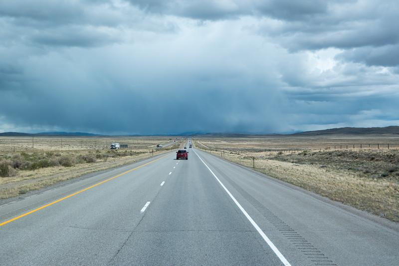 Wyoming I-80 Near Elk Mountain