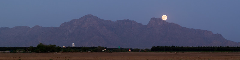 Moonrise Over Eloy, AZ