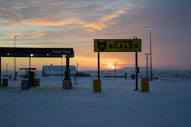 Beach, ND Cold Morning