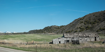 Old Barn Near American Falls Idaho