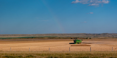 Farming Near Glendive, MT w/ Rainbow