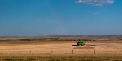 Farming Near Glendive, MT w/ Rainbow