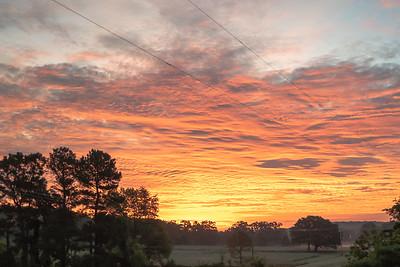 Oklahoma Sunrise Near Salisaw