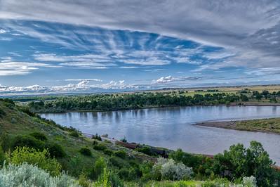 Yellowstone River Valley Montana Sunset