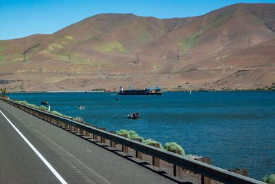 Columbia River Barge and Fishing