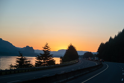 Columbia River Gorge Oregon Sunrise
