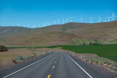 Washington Hwy 14 Wind Power