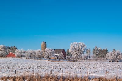 Minnesota Farm in Winter