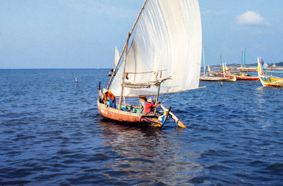Traditional boat under sail