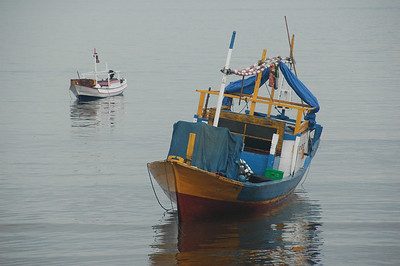 Kupang - boats at anchor
