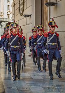 Guards of the Tomb of General Jose de San Martin I - Metropolitan Cathedral