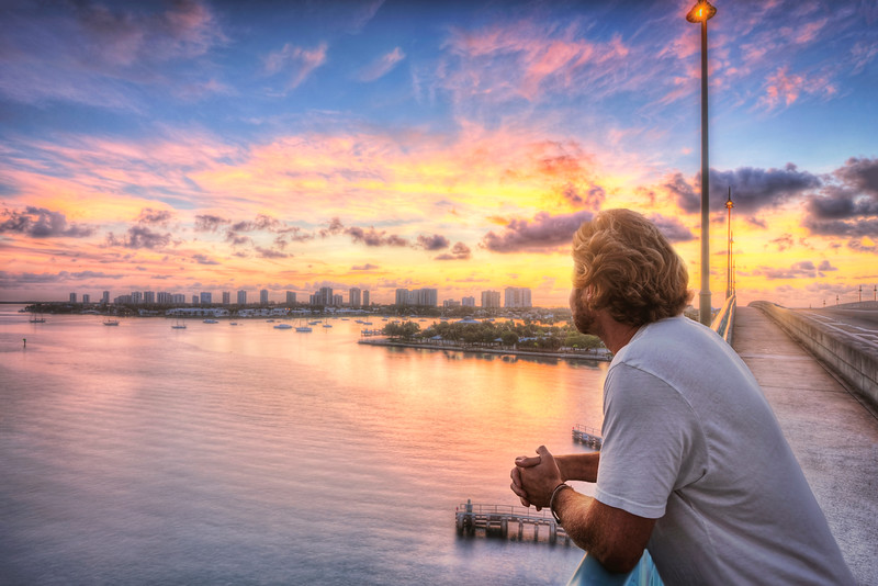 DSC01080 David Scarola Photography, Sunrise View of Singer Island From the Blue Heron Bridge, aug 2017
