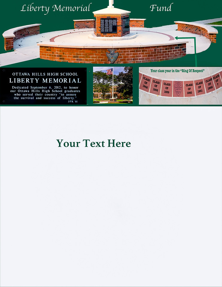 """Liberty Memorial Fund Raising Brochure with new """"Ring of Respect""""  insert #10"""