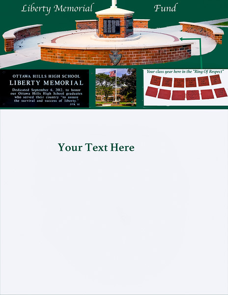 """Liberty Memorial Brochure with previousr """"Ring of Respect"""" insert"""