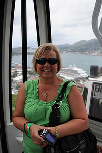 Sky lift at Paradise Point in St. Thomas