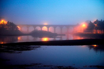 Ballydehob Old Railway Bridge in Fog  Photography by Richard Hurley