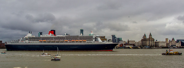 Queen Mary 2 Visits Liverpool