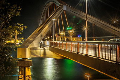 La Barqueta Bridge in Seville Spain
