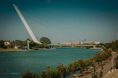 Alamillo  Bridge in Seville Spain