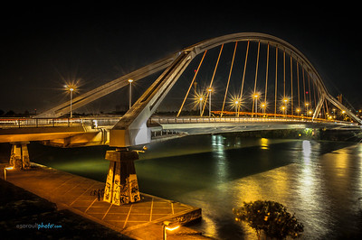 La Barqueta Bridge in Seville Spain