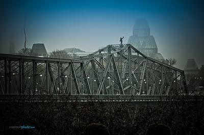 Alexandra Bridge from  Ottawa Ontario to Gatineau Québec Canada