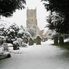 St Mary's Parish Church in Snow