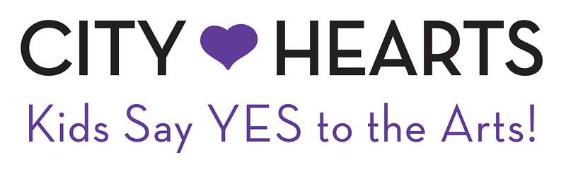 City Hearts Purple and Black Logo