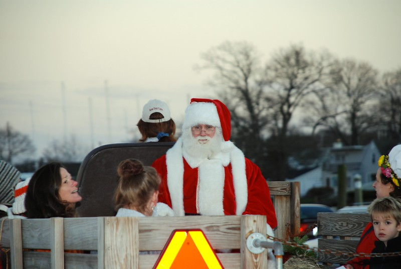Santa on a Hay ride at the Festival of Lights in Wickford